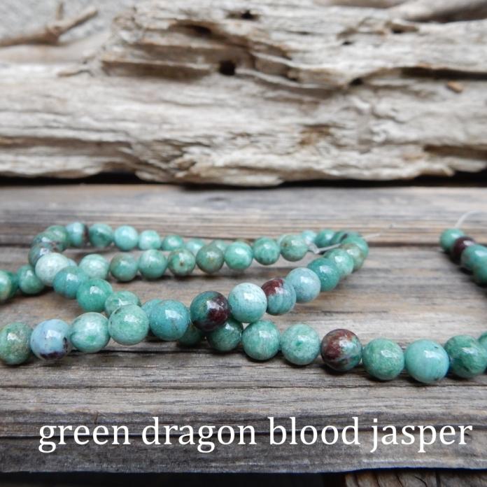 JasperGreenDragonBloodStrand stones